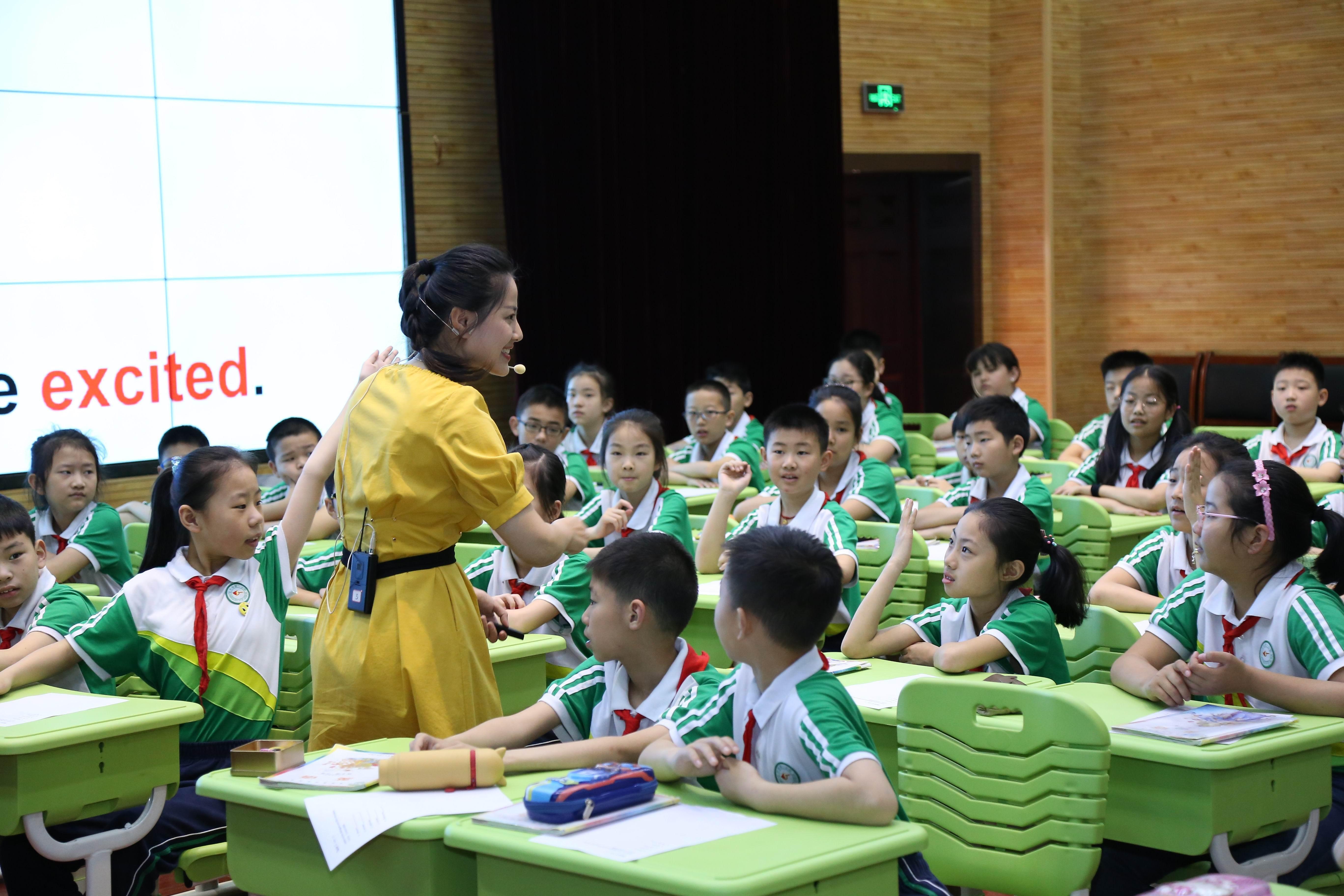 全国小学英语教师基本功大赛授课现场气氛热烈